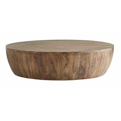 ARTERIORS Solid Wood Drum Coffee Table - Perigold
