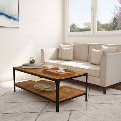 Wood Coffee Table With Shelf - Wayfair