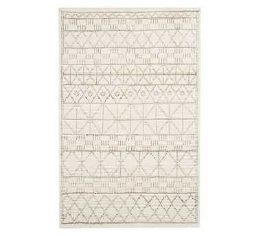 Carleigh Handknotted Rug, 8' x 10', Neutral - Pottery Barn