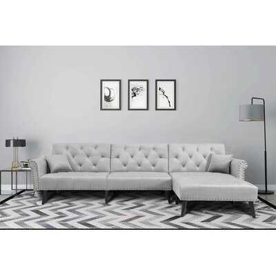 "Fresquez 115"" Reversible Sleeper Sofa & Chaise Sectional - Wayfair"