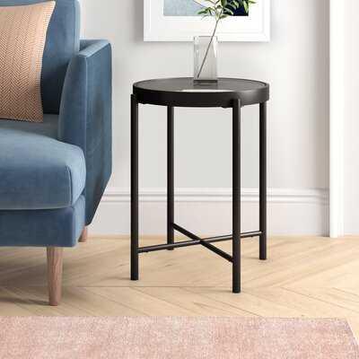 Javin Glass Top End Table - Wayfair