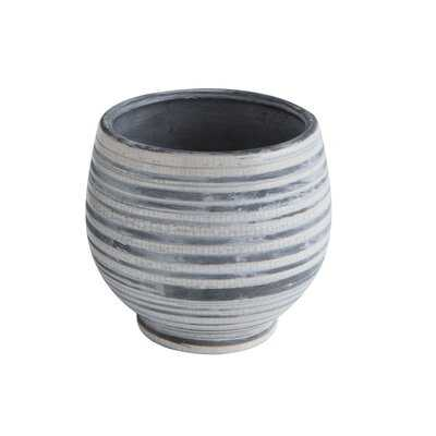 Ehrhardt Striped Stoneware Pot Planter - Birch Lane