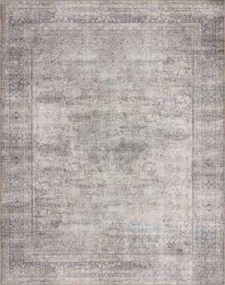 """WYNTER WYN-03 Silver / Charcoal 7'-6"""" x 9'-6"""" - Loma Essentials"""