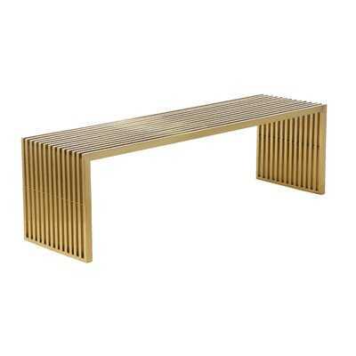 Brooking Metal Bench - Wayfair