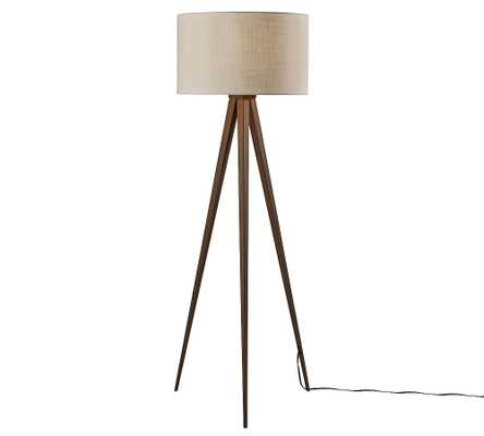 Axson Wood Floor Lamp, Rosewood - Pottery Barn