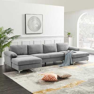 Fabric Convertible Sectional Sofa - Wayfair