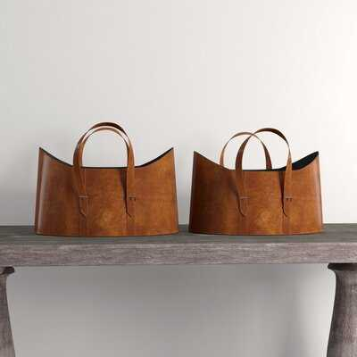 2 Piece Leather Bucket Set - Wayfair