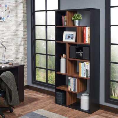 "Codecido 71"" H x 32"" W Geometric Bookcase - Wayfair"