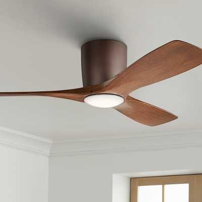"48"" Kichler Volos Satin Bronze Hugger LED Ceiling Fan - Style # 80A23 - Lamps Plus"