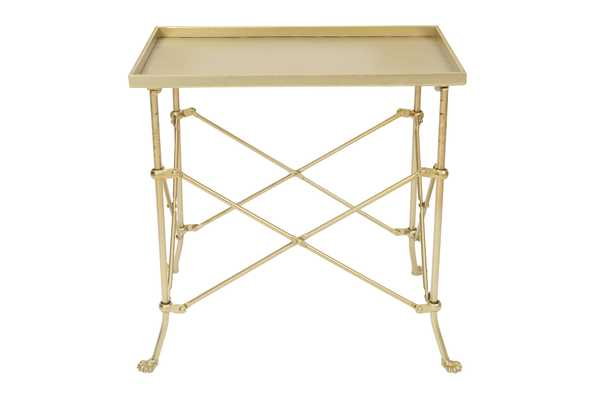 "Rectangle 20"" Tray-Style Metal Accent Table - Nomad Home"