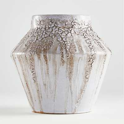 Fairview White Bark Vase - Crate and Barrel