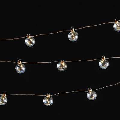 Micro LED Glass Ball Twinkle Lights   - Ballard Designs - Ballard Designs