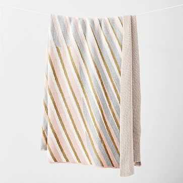 Happy Habitat Recycled Cotton Throw, Sliding Stripes - West Elm