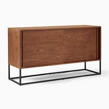 """Box Frame Buffet (58"""") - Cool Walnut, Antique Bronze - West Elm"""