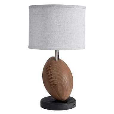 Football Table Lamp with USB, Brown - Pottery Barn Teen