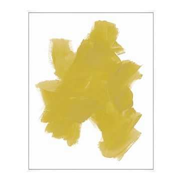 Color Expression 3 Painting, Yellow, Large - West Elm