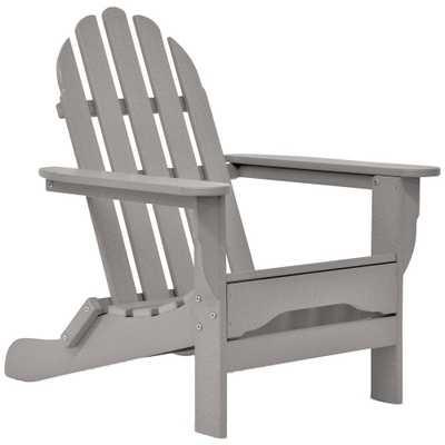 DUROGREEN Icon Light Gray Non-Folding Plastic Adirondack Chair - Home Depot