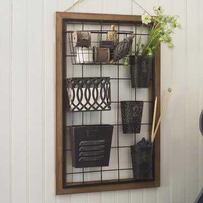 Yair Wall Storage Organizer with Wall Baskets - Birch Lane