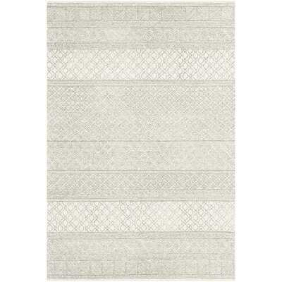 Shiloh Geometric Handmade Tufted Wool Gray/Cream Area Rug - Wayfair