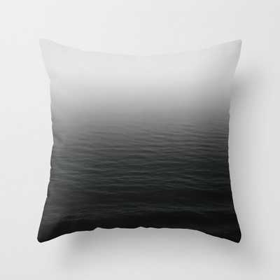 """Deep Sea - Black And White Edition Couch Throw Pillow by Leah Flores - Cover (18"""" x 18"""") with pillow insert - Outdoor Pillow - Society6"""