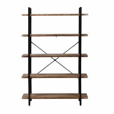 "Gerniot 70"" H x 47.2"" W Steel Etagere Bookcase - Wayfair"