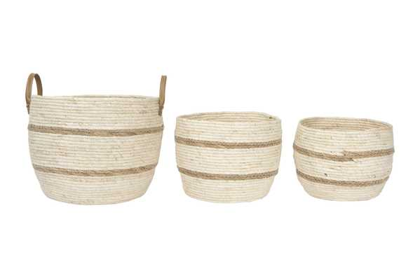 Shiloh Baskets, Set of 3 - Cove Goods