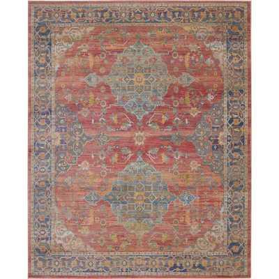 Nourison Global Vintage GLB01 Multicolor 8'x10' Area Rug, Red - Home Depot