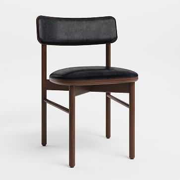 Sadove Dining Chair, Walnut, Jet - West Elm