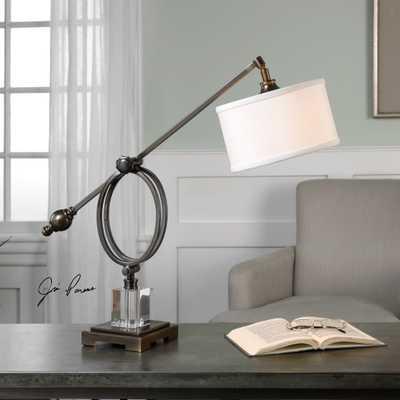 Levisa Dark Bronze Desk Lamp - Hudsonhill Foundry