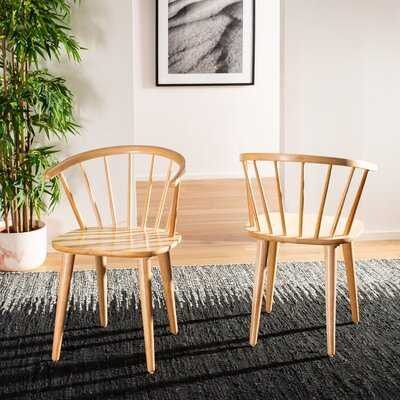 Spindle Solid Wood Windsor Back Arm Chair - Wayfair