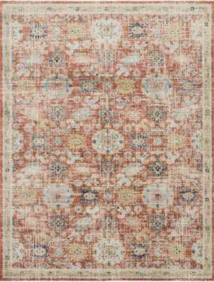 """Magnolia Home by Joanna Gaines GRAHAM GRA-05 PERSIMMON / MULTI 9'-6"""" x 12'-6"""" - Magnolia Home by Joana Gaines Crafted by Loloi Rugs"""