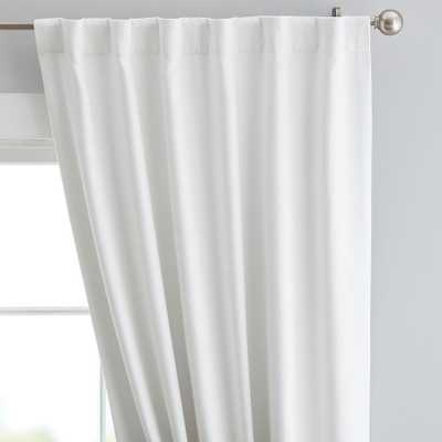 "Cotton Chenille Curtain Panel, 44"" x 108"", Ivory - Pottery Barn Teen"