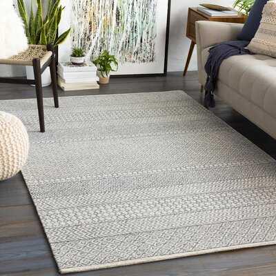 Pittsfield Geometric Handmade Tufted Wool Brown/Gray Area Rug - Birch Lane