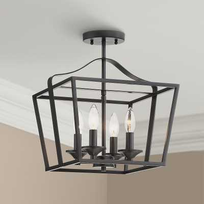 "Jeffery 13"" Wide Black 4-Light Foyer Pendant Light - Style # 79T17 - Lamps Plus"