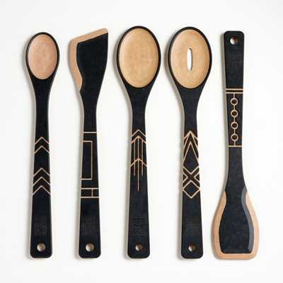 Epicurean x Frank Lloyd Wright Chef Series Utensils, Set of 5 - Crate and Barrel