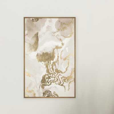 Gold Mess' Floater Frame Painting Print on Canvas - Wayfair