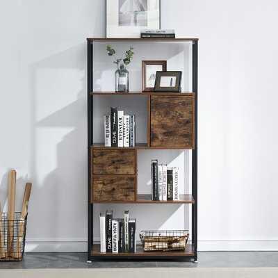 "Thuringowa 62"" H x 31"" W Metal Standard Bookcase - Wayfair"
