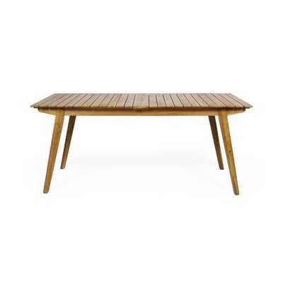Outdoor Rustic Solid Wood Dining Table - Wayfair