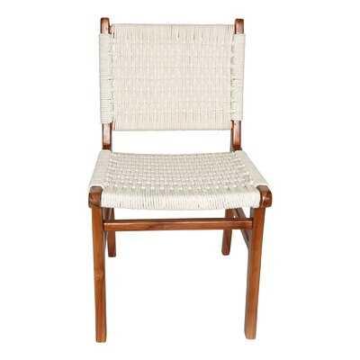 Hadlock Solid Wood Side Chair in White - Wayfair