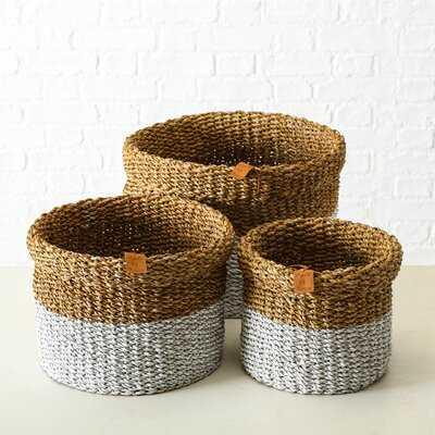 3 Piece Basket Set - Wayfair