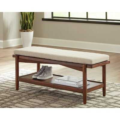 Cobbs 1-Shelf Bench Desert Teak And Beige - Wayfair