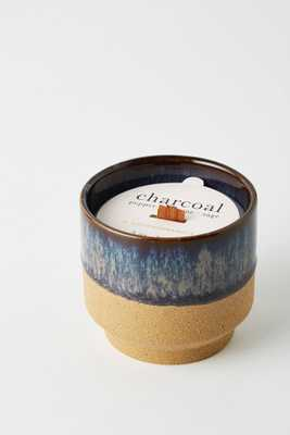 Small Akemi Ceramic Candle - Charcoal Scent - Anthropologie