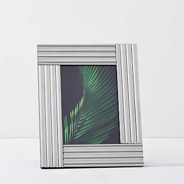 "Fluted Mirror Frames, Silver, 5""x8"" - West Elm"