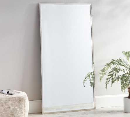 "Layne Floor Mirror, Nickel - 36"" x 66"" - Pottery Barn"