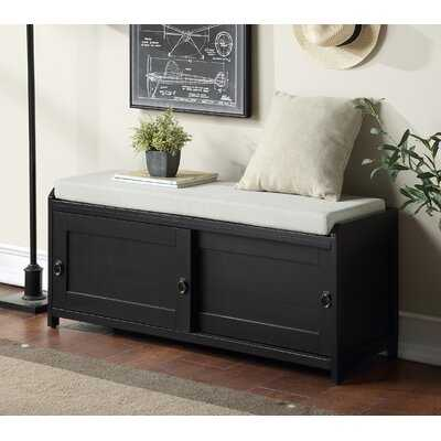 Longshore Tides Wood Storage Bench With 2 Cabinets - Wayfair