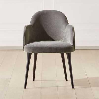 Giulia Grey Velvet Dining Chair - CB2