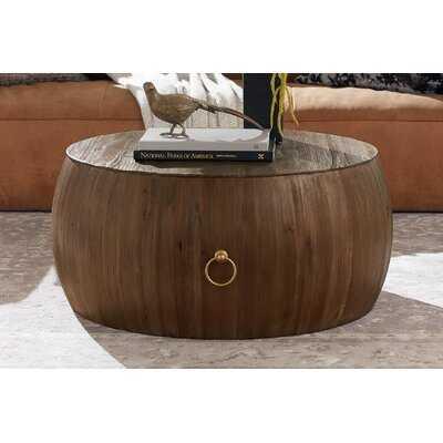Steil Solid Wood Drum Coffee Table - Wayfair