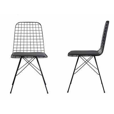 Vitale Metal Windsor Back Side Chair in Black - Wayfair