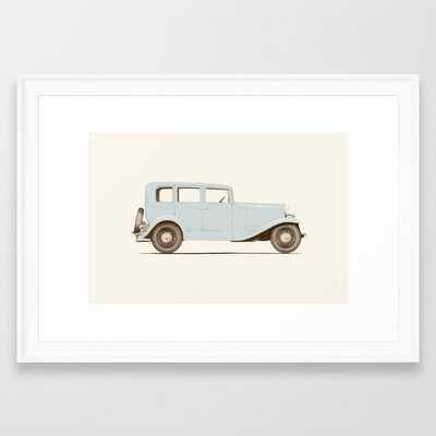 Car Of The 1930's Framed Art Print by Florent Bodart / Speakerine - Scoop White - SMALL-15x21 - Society6