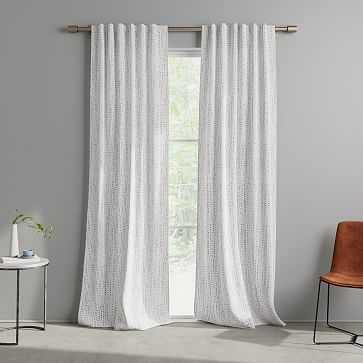 "Painted Broken Dots Curtain, Stone Gray, Set of 2, 48""x84"" - West Elm"